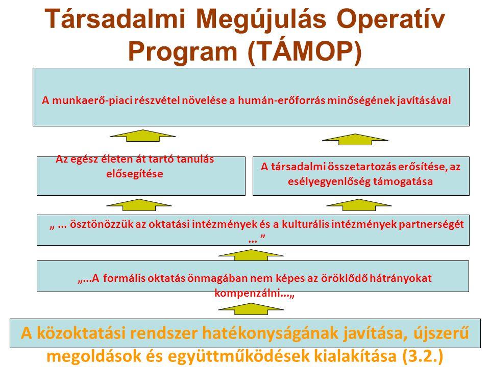 Társadalmi Megújulás Operatív Program (TÁMOP) A munkaerő-piaci részvétel növelése a humán-erőforrás minőségének javításával Az egész életen át tartó t