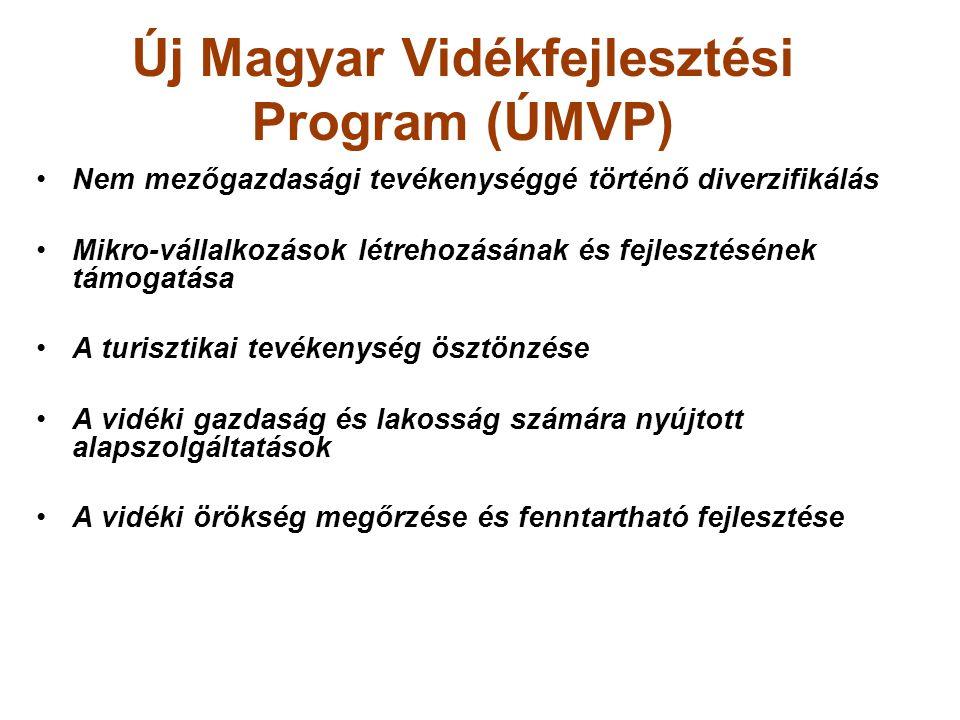 Új Magyar Vidékfejlesztési Program (ÚMVP) Nem mezőgazdasági tevékenységgé történő diverzifikálás Mikro-vállalkozások létrehozásának és fejlesztésének
