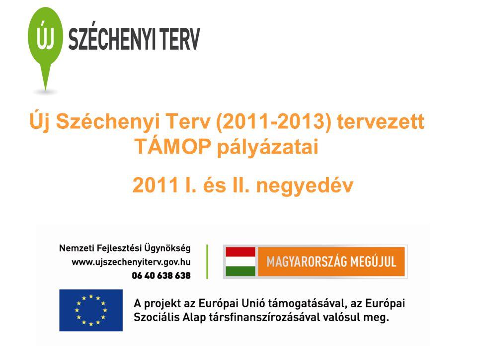 Új Széchenyi Terv (2011-2013) tervezett TÁMOP pályázatai 2011 I. és II. negyedév
