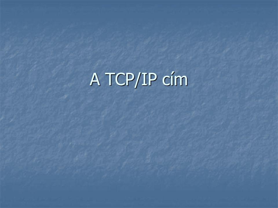 A TCP/IP cím
