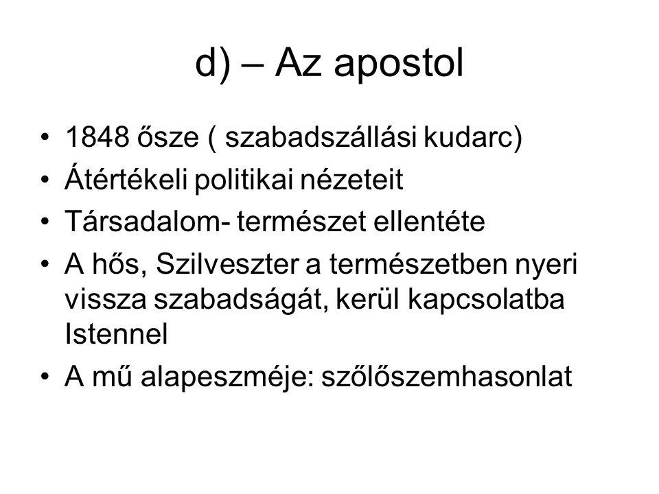 Befejezés- Petőfi utóélete Vajda János: híd Petőfi és Ady között Ady és a magyar Ugar József Attila és az alföld-toposz (Holt vidék)