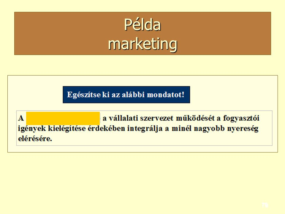 79 Példa marketing