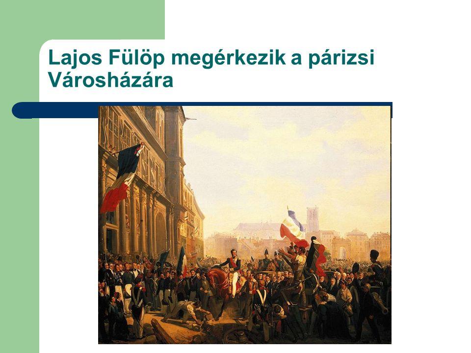 Lajos Fülöp megérkezik a párizsi Városházára