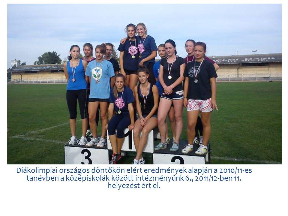 Diákolimpiai országos döntőkön elért eredmények alapján a 2010/11-es tanévben a középiskolák között intézményünk 6., 2011/12-ben 11.