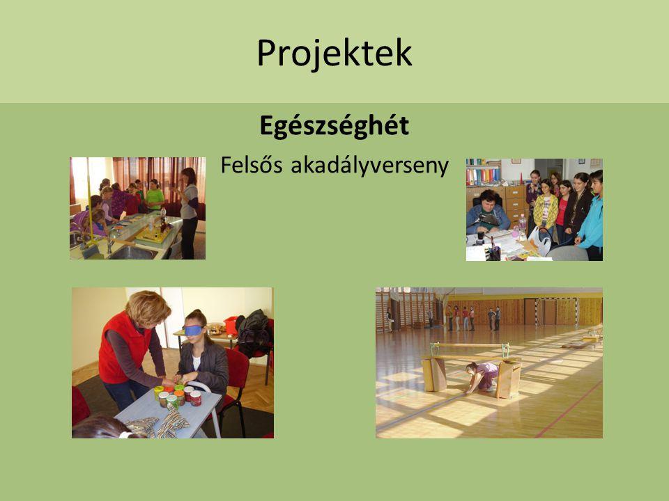 Projektek Egészséghét Felsős akadályverseny