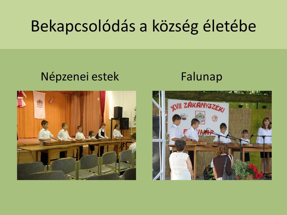 Bekapcsolódás a község életébe Népzenei estek Falunap