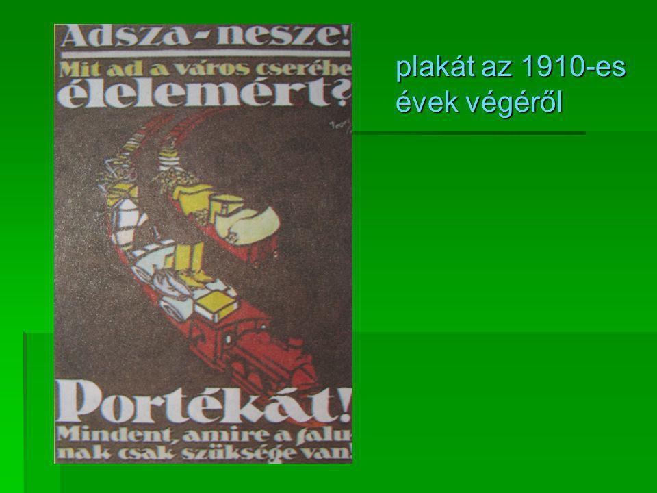 plakát az 1910-es évek végéről
