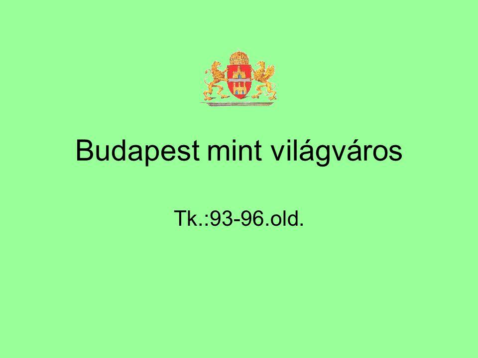 Budapest mint világváros Tk.:93-96.old.