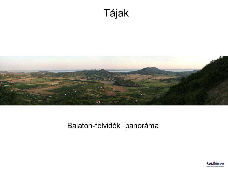 Tájak Balaton-felvidéki panoráma