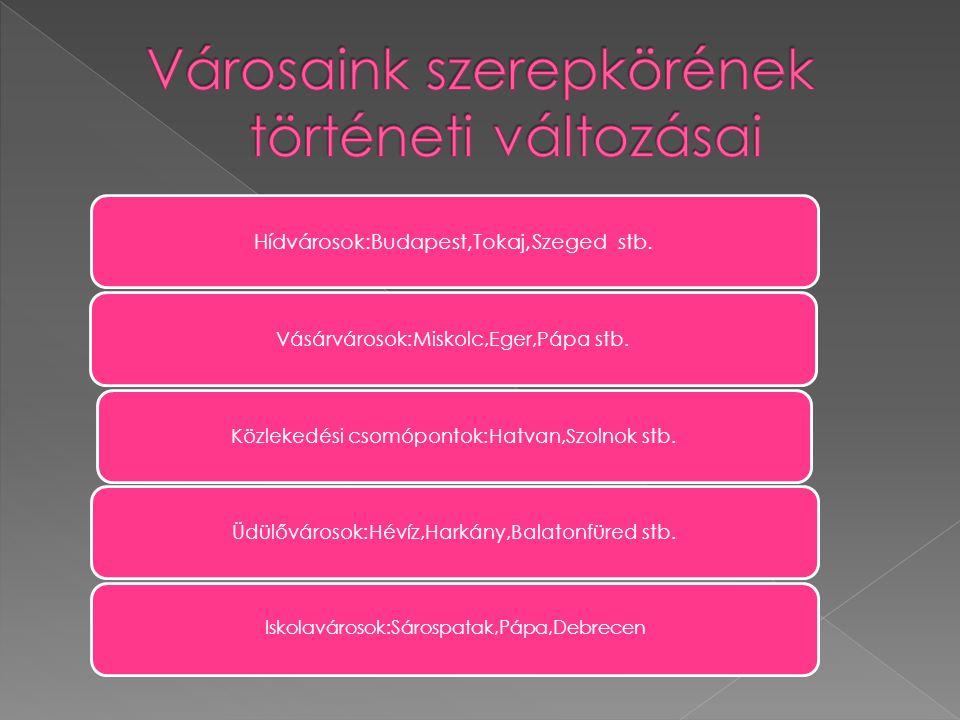  A városhálózat legrangosabb települése a főváros. Budapest a nemzetközi besorolások alapján egyetlen nagyvárosunk.  Az agglomeráció  Az agglomerác