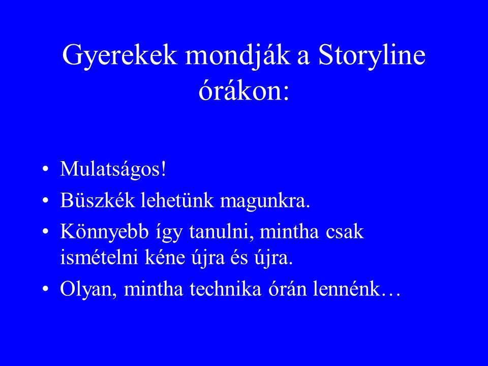 Gyerekek mondják a Storyline órákon: Mulatságos! Büszkék lehetünk magunkra. Könnyebb így tanulni, mintha csak ismételni kéne újra és újra. Olyan, mint
