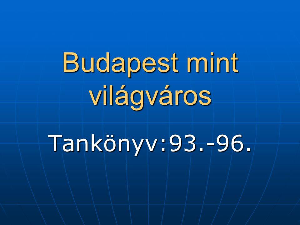 Budapest mint világváros Tankönyv:93.-96.