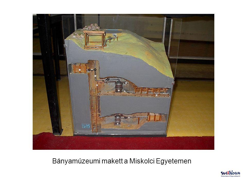 Bányamúzeumi makett a Miskolci Egyetemen