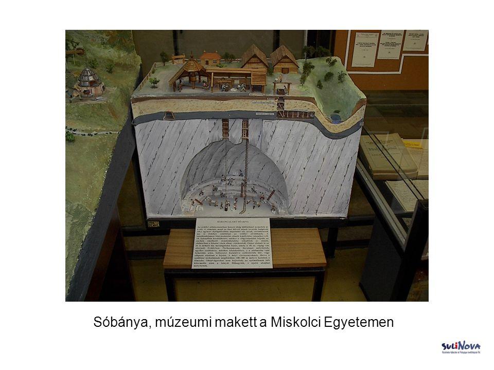 Sóbánya, múzeumi makett a Miskolci Egyetemen