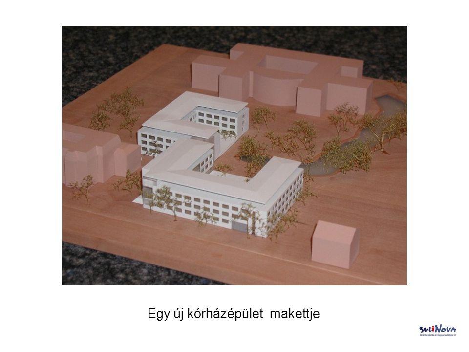 Egy új kórházépület makettje