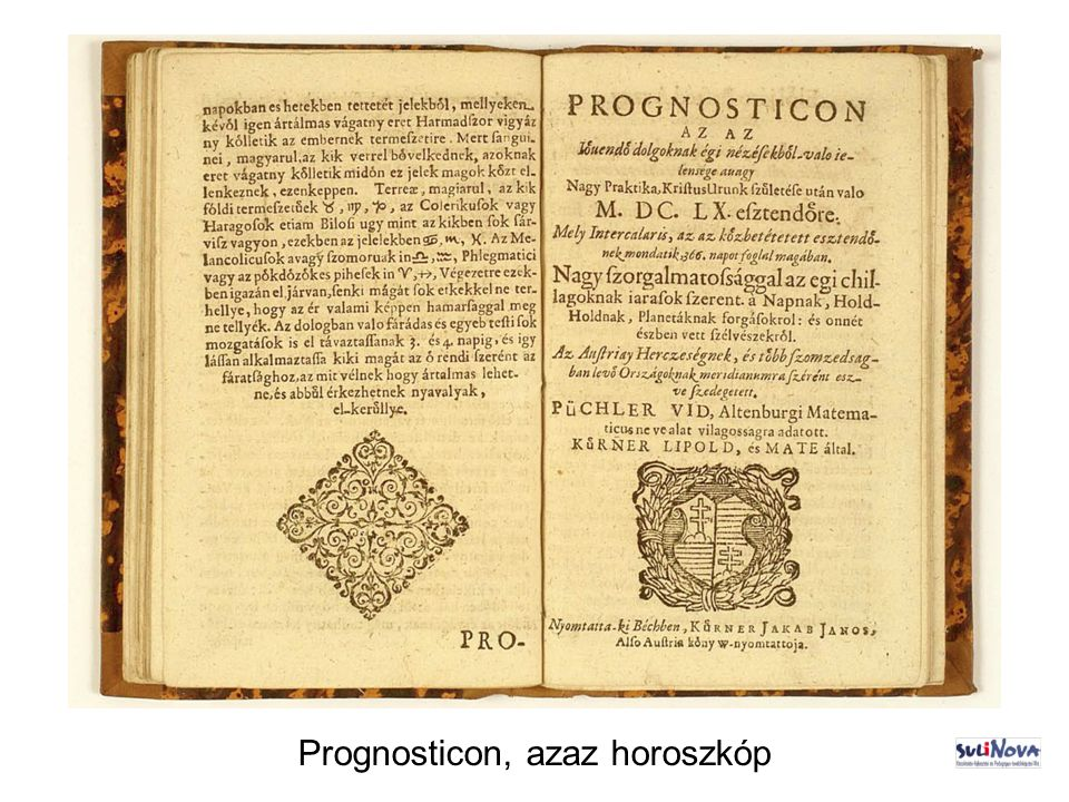 Prognosticon, azaz horoszkóp