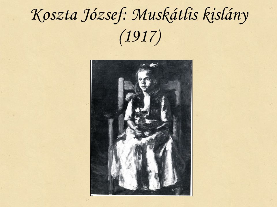 Koszta József: Muskátlis kislány (1917)