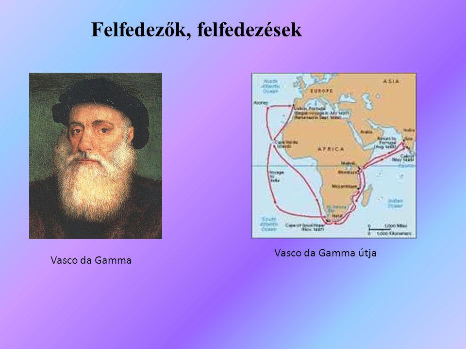 Vasco da Gamma Vasco da Gamma útja Felfedezők, felfedezések