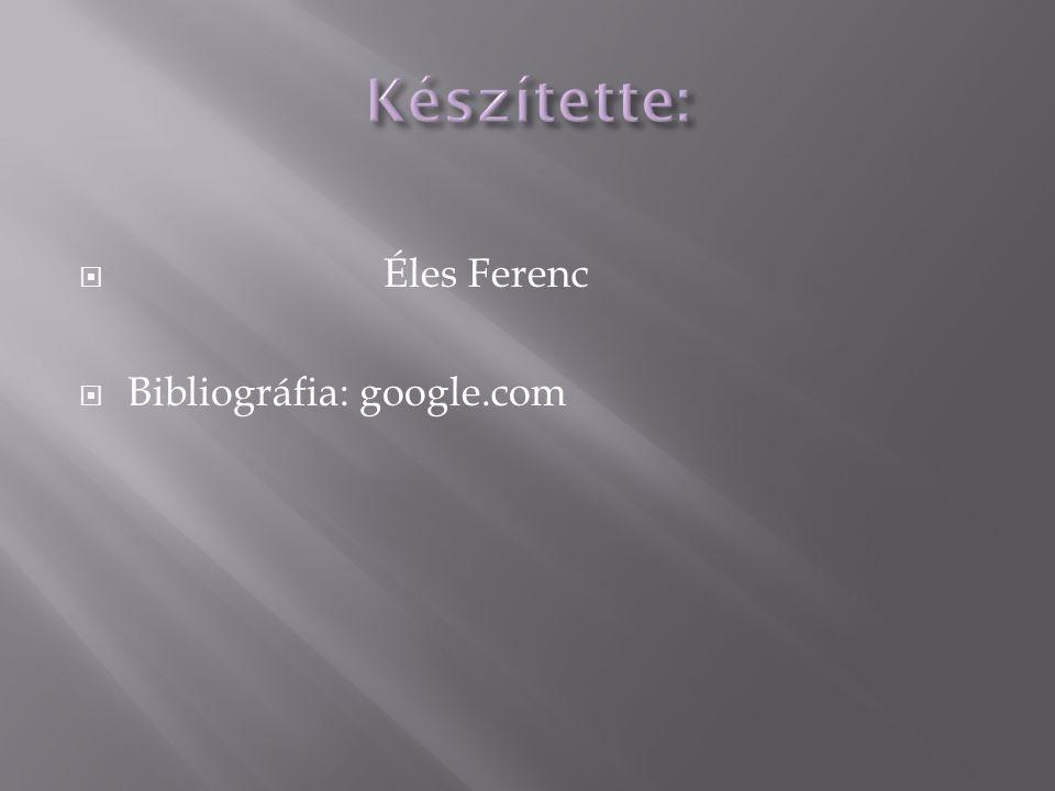  Éles Ferenc  Bibliográfia: google.com
