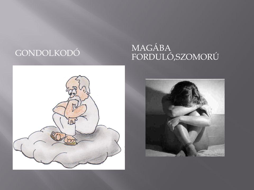 GONDOLKODÓ MAGÁBA FORDULÓ,SZOMORÚ
