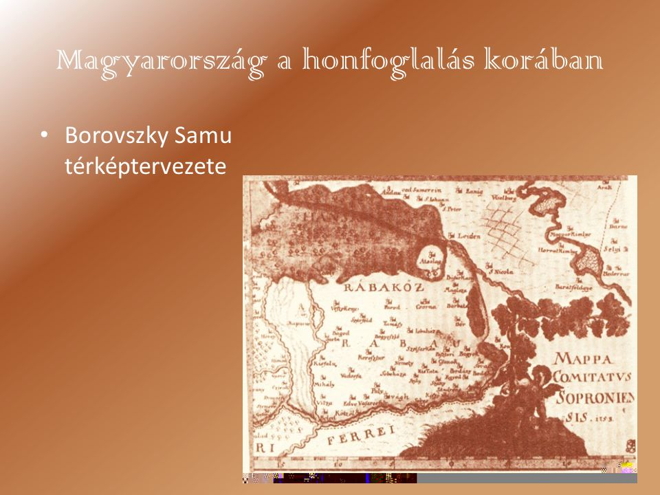 Magyarország a honfoglalás korában Borovszky Samu térképtervezete