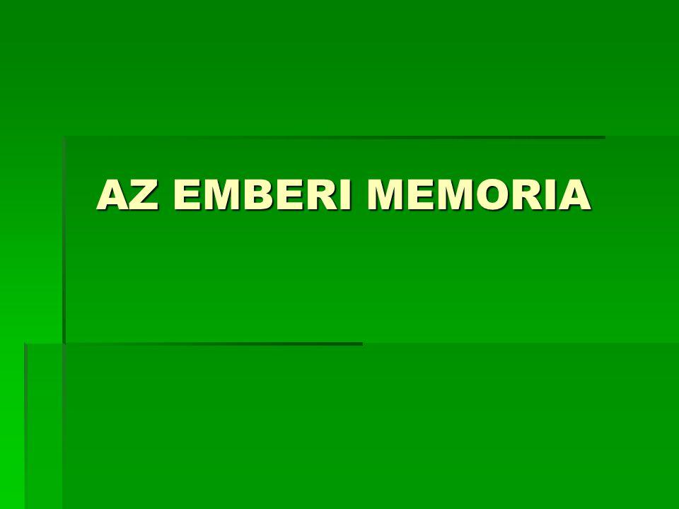 AZ EMBERI MEMORIA AZ EMBERI MEMORIA