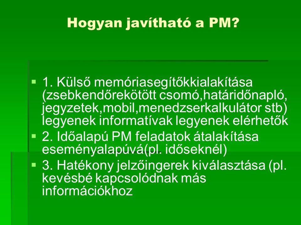 Hogyan javítható a PM.  1.