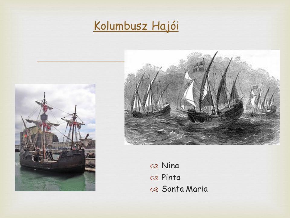  Kolumbusz Hajói  Nina  Pinta  Santa Maria
