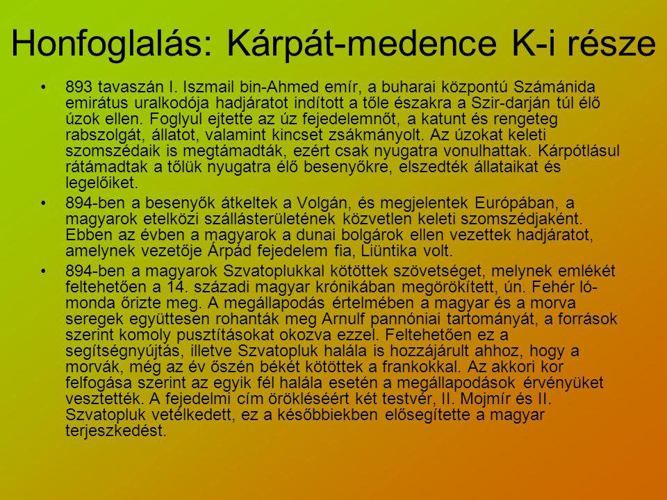 Honfoglalás: Kárpát-medence K-i része 893 tavaszán I.