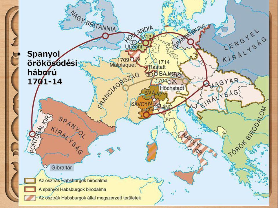 Spanyol örökösödési háború 1701-14Spanyol örökösödési háború 1701-14