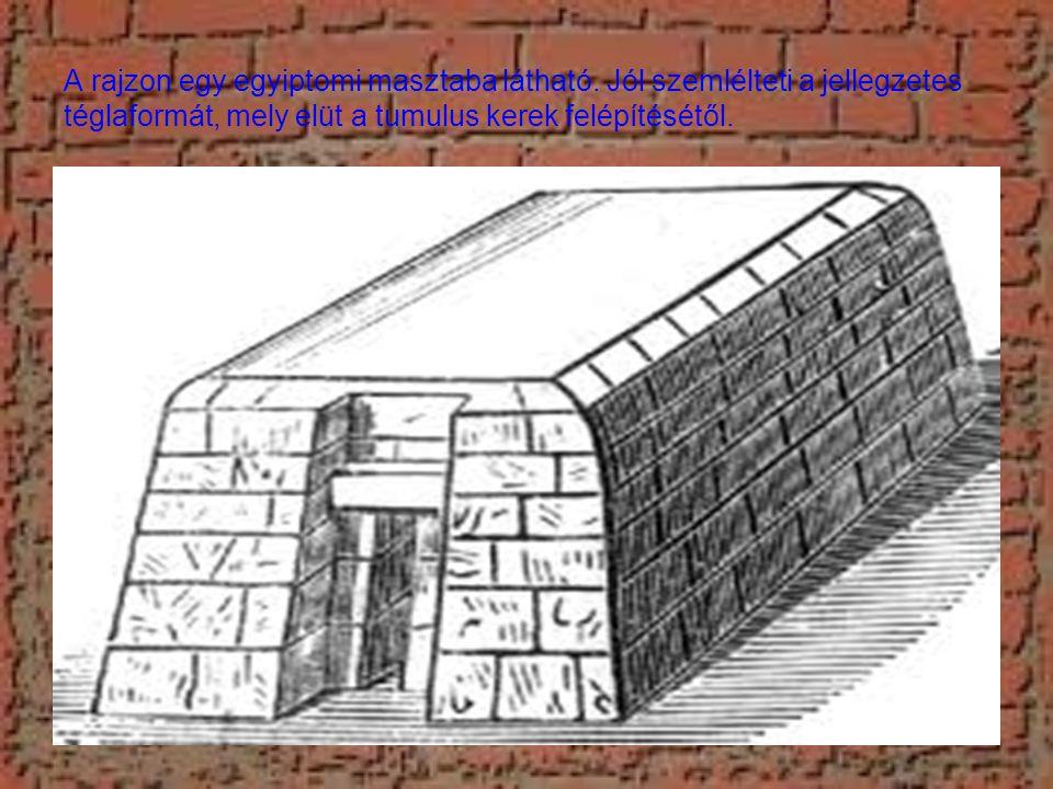 A rajzon egy egyiptomi masztaba látható.