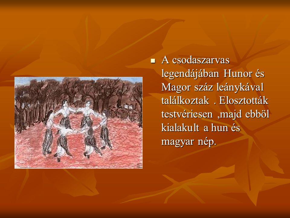 Emese álma arról szolt, hogy egy Turulmadár szállt rá, majd megszületik Álmos, a magyarok nagy fejedelme.
