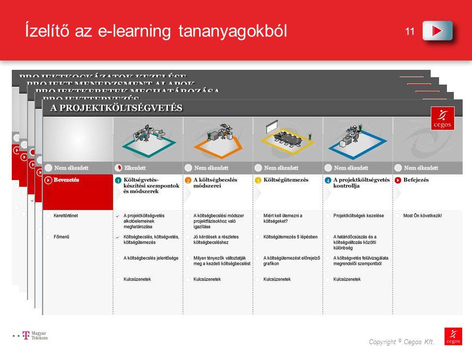 11 Copyright © Cegos Kft. Ízelítő az e-learning tananyagokból