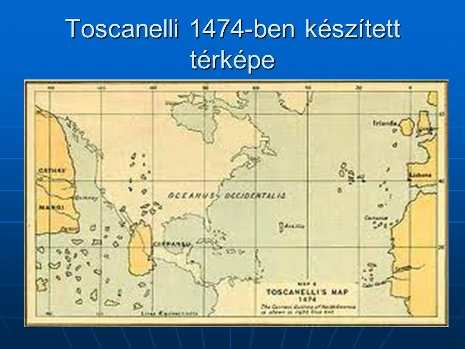 Toscanelli 1474-ben készített térképe