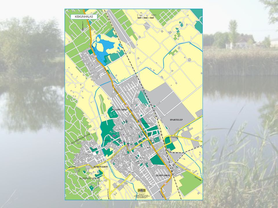 Térkép készítése az iskola környékéről.