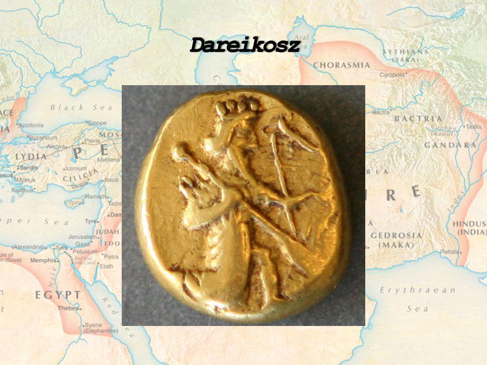 Dareikosz A dareikosz egy arany érme volt, amit a Perzsa Birodalomban hazsnáltak Kb.
