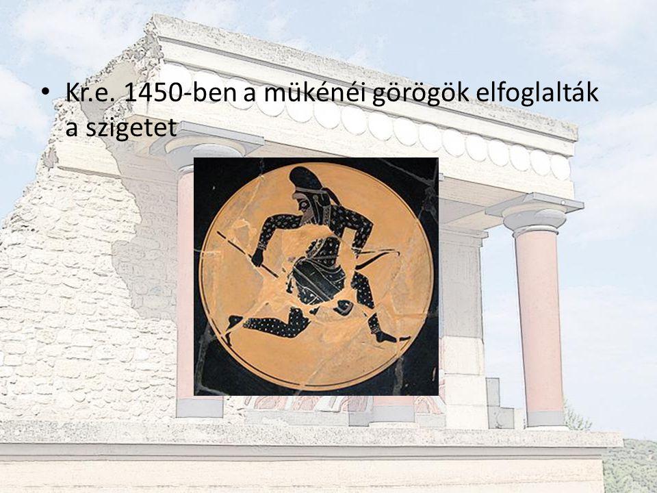 Falfeliratok  Minósziak eredete máig ismeretlen  Írásuk megfejtetlen  Indoeurópai nyelv – nem görögök!