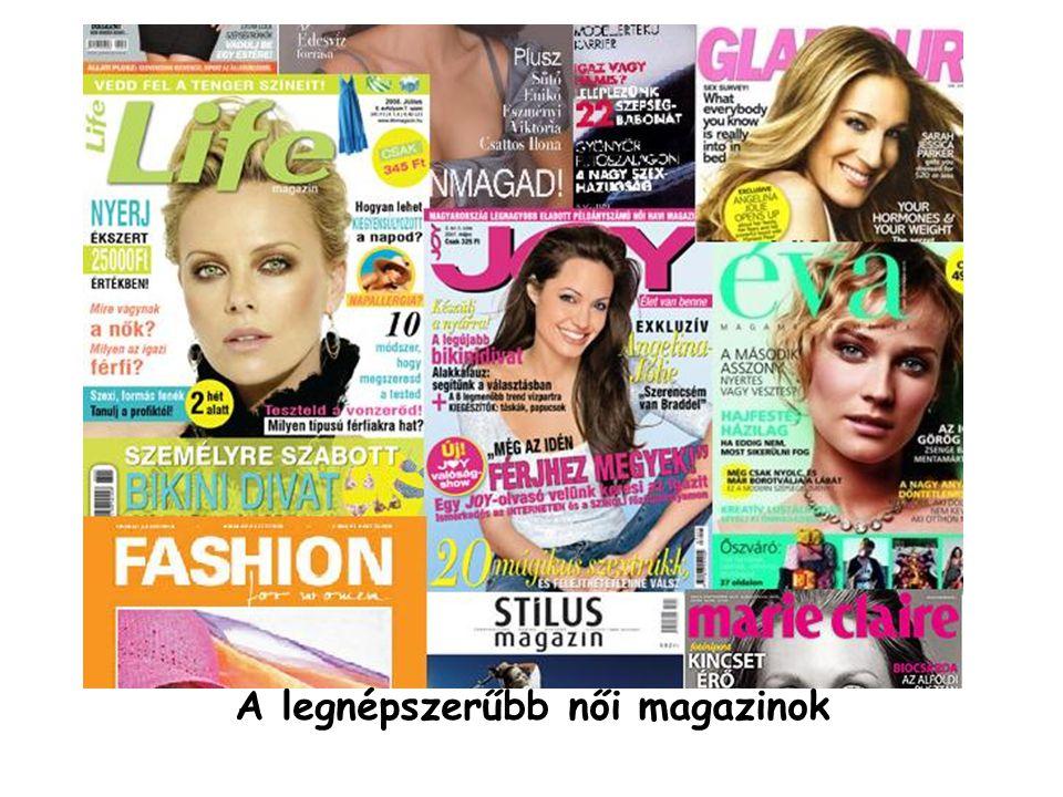 A legnépszerűbb női magazinok