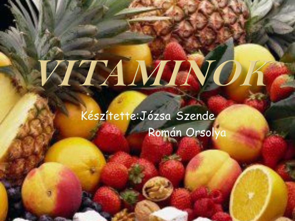  Az emberi szervezetbe a vitaminokat többnyire táplálékkal vesszük fel.