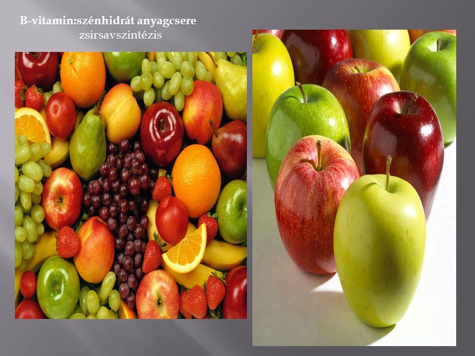 VitaminokAjánlott napi mennyiség A-vitamin D-vitamin E-vitamin 400 10 6 K-vitamin15 B6-vitamin0,5 Folsav B12-vitamin 100 0,7 C-vitamin50 B1-vitamin B2-vitamin Niacin 0,5 0,8 9 Pantoténsav2