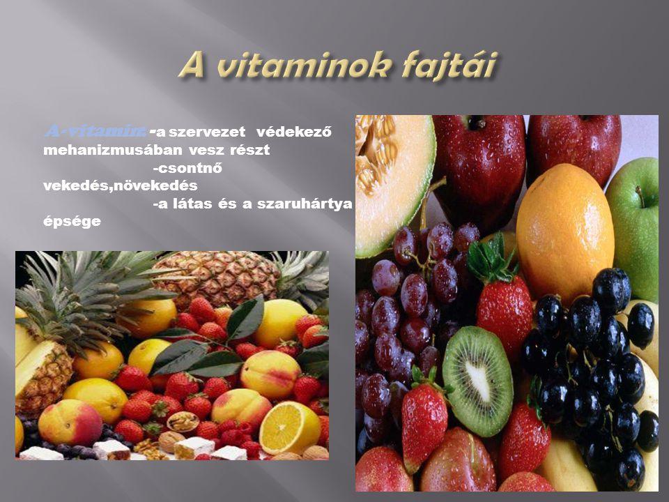  D-vitamin :-kálcium beépülése a csontba D-vitamin  -foszforanyagcsere szabályozása