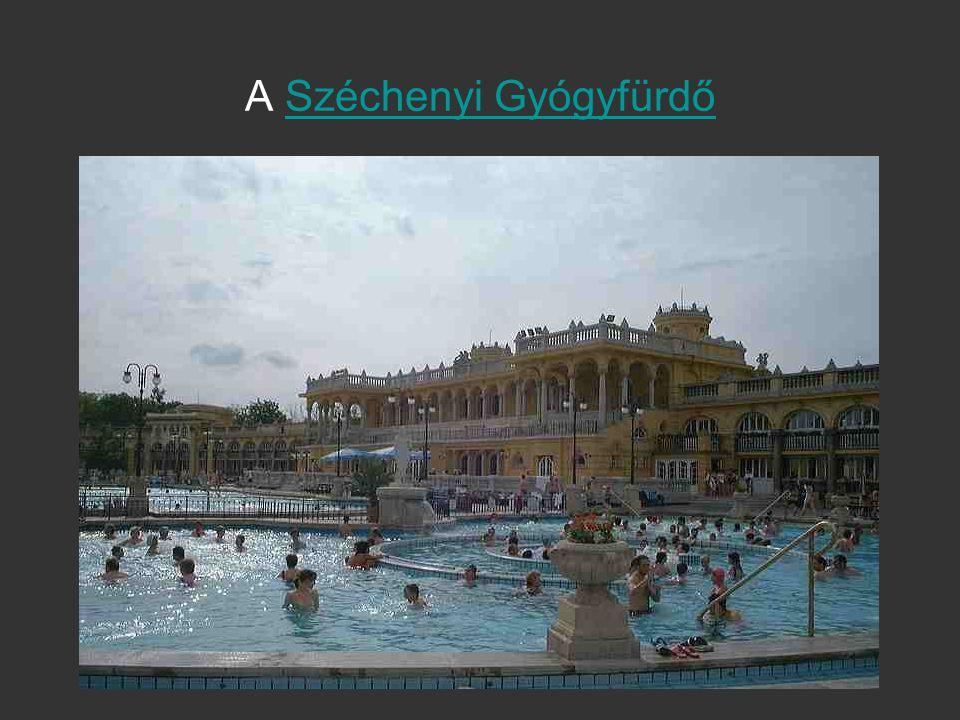 A Széchenyi GyógyfürdőSzéchenyi Gyógyfürdő