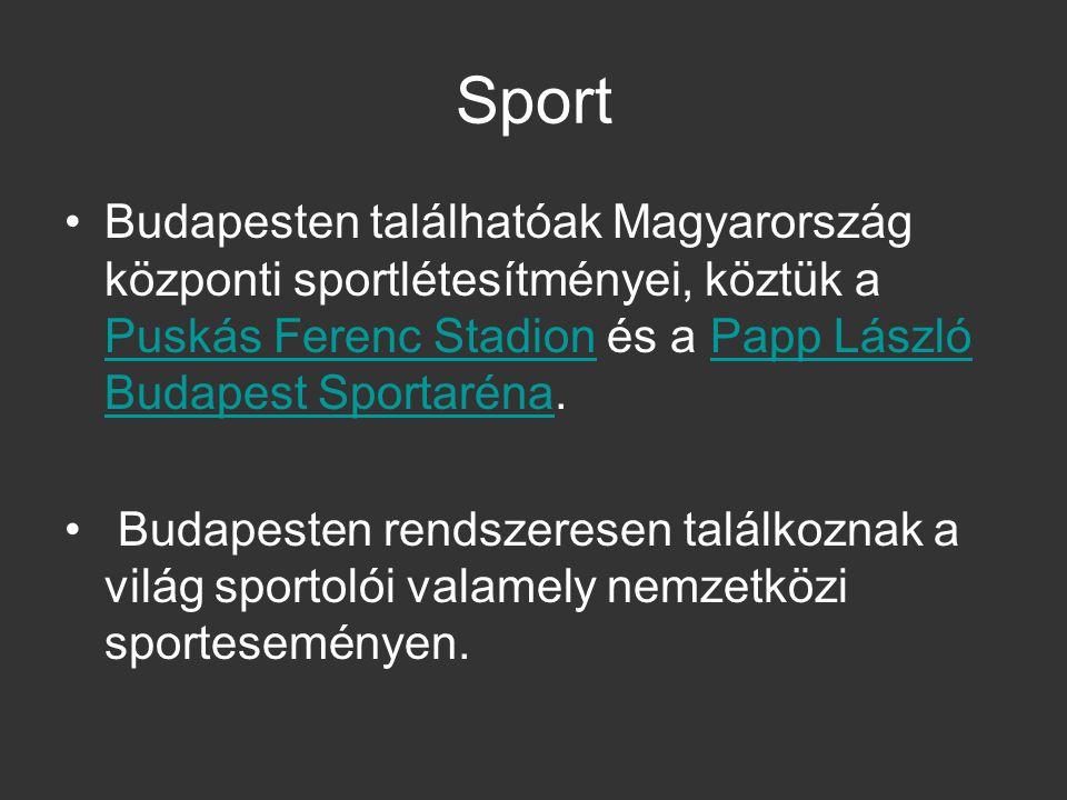 Sport Budapesten találhatóak Magyarország központi sportlétesítményei, köztük a Puskás Ferenc Stadion és a Papp László Budapest Sportaréna. Puskás Fer