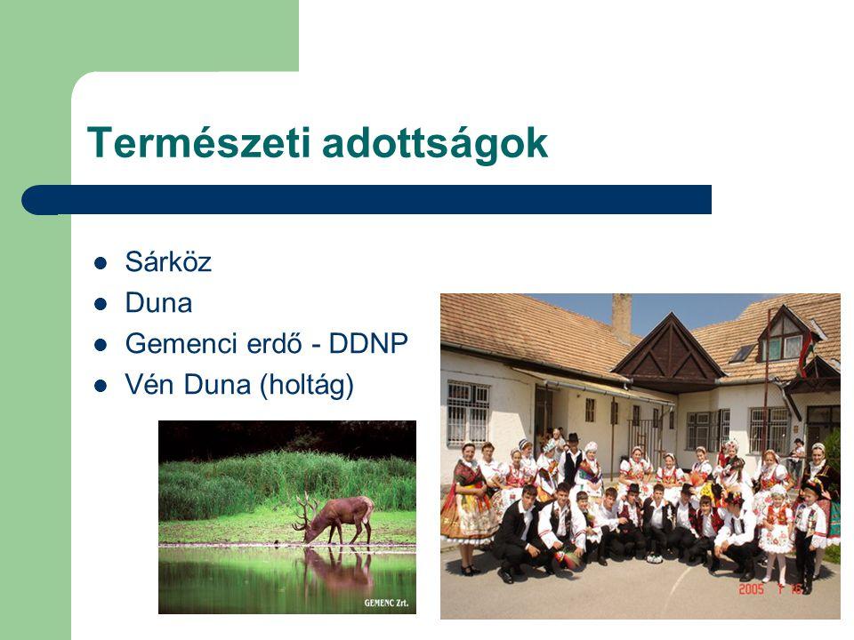 Természeti adottságok Sárköz Duna Gemenci erdő - DDNP Vén Duna (holtág)