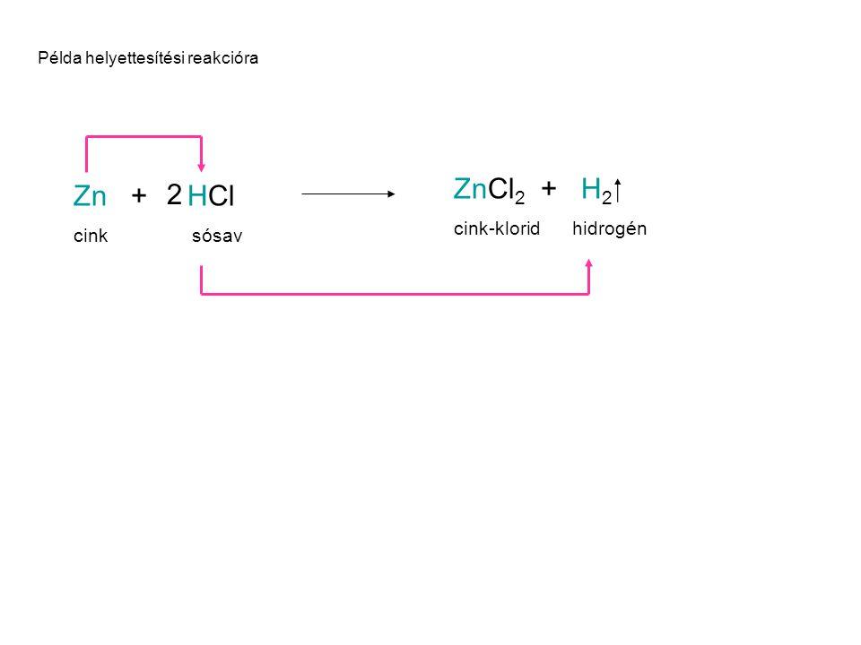 A cserebomlási reakció Általános formája: AB + CD → AD + CB A cserebomlási reakció az a kémiai folyamat, amelynek során két összetett anyag egy-egy eleme helyet cserél egymással.