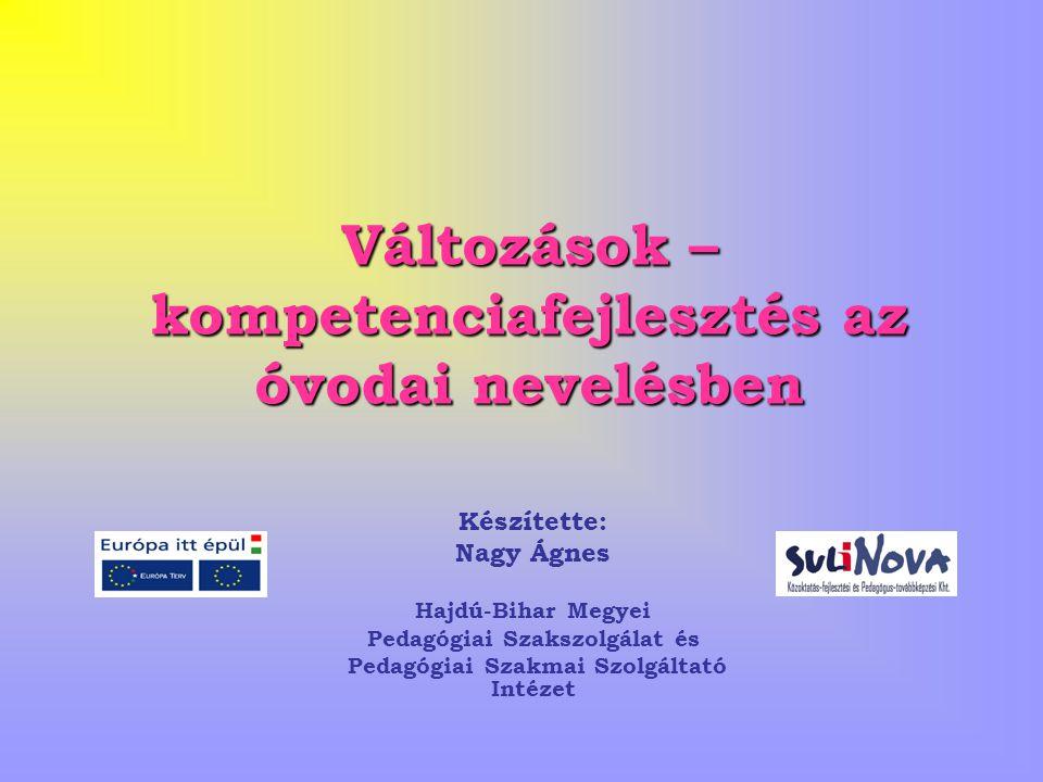 A programcsomag célkitűzése A magyar óvodák JÓ GYAKORLATÁNAK MEGŐRZÉSE mellett, az óvodapedagógiában fellelhető hiányok, ellentmondások feloldása a programcsomag ajánlásaival.