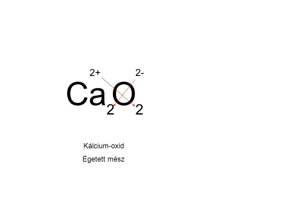 CaO 2+2- 22 Kálcium-oxid Égetett mész