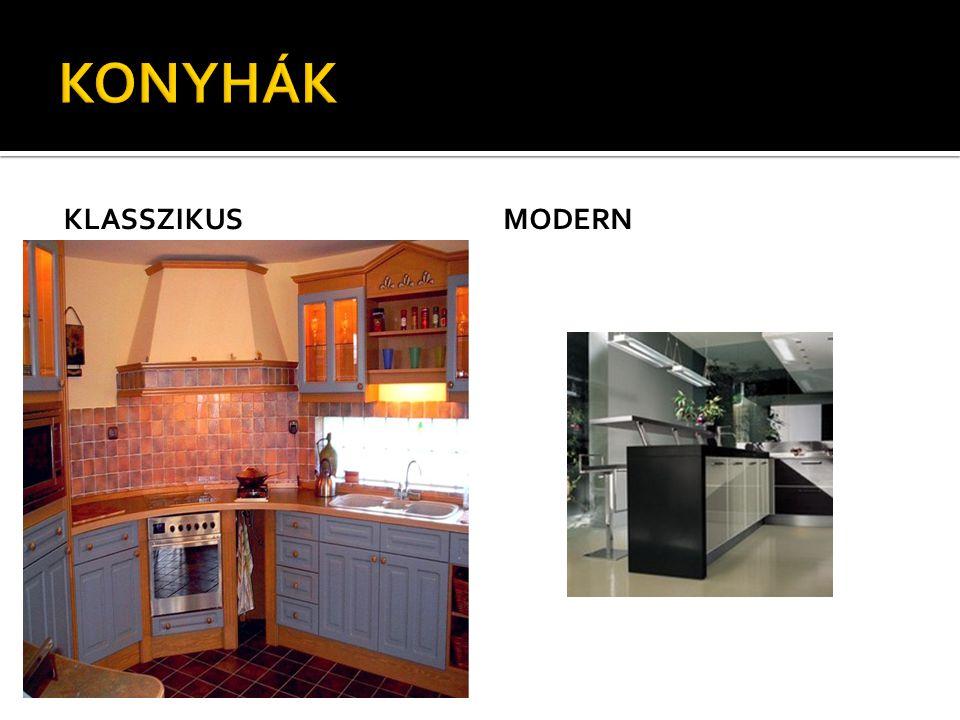 A konyha kinézete A konyha padlóját előnyös padlócsempével boritani, mert az könnyen tisztitható.