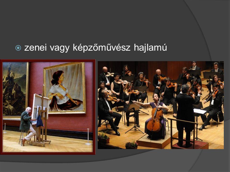  zenei vagy képzőművész hajlamú