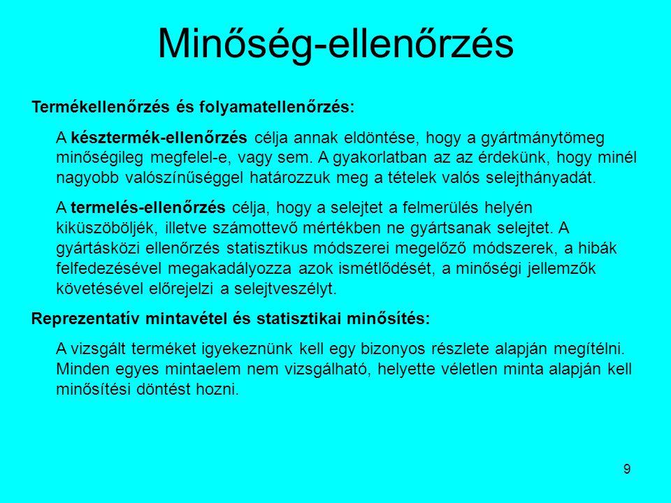 20 Érzékszervi minősítés az élelmiszeriparban 3.